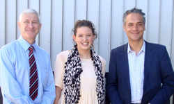 Building Tomorrow from Yesterday - Maddy with Prof Steffen Lehmann and Zero Waste SA director Ian Harvey